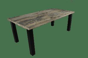 Wagondelen tafel met industrieel frame