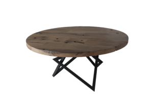 Barnwood tafel met dubbel ster frame