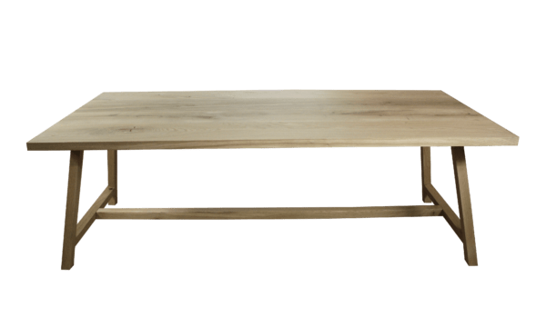 Rustiek new oak tafelblad + frame 2