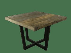Oude balken tafel met dubbel plus frame
