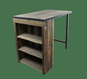 Industriële keukentafel van sloophout