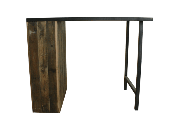 Steigerhouten keukentafel met staal 3