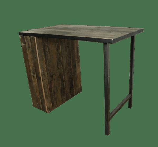 sloophouten keukentafel met staal 2