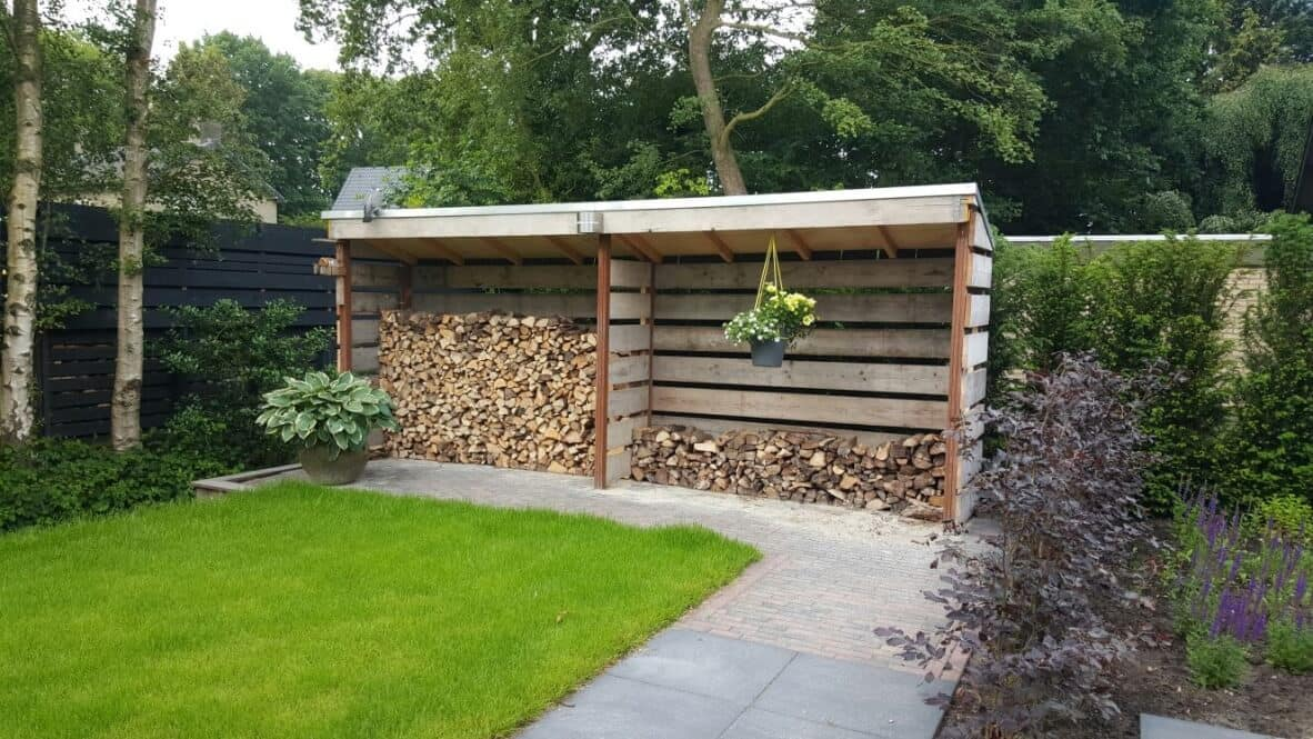 Hout overkapping Joure
