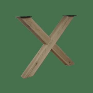 Eikenhouten X-frame