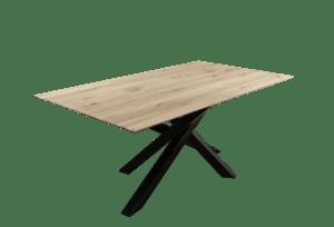 Rustiek New oak tafel met mikado frame