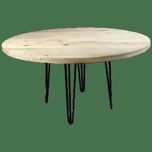 Ronde rustiek eiken tafelblad