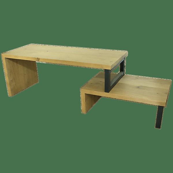 eiken tv-meubel met stalen poten 2
