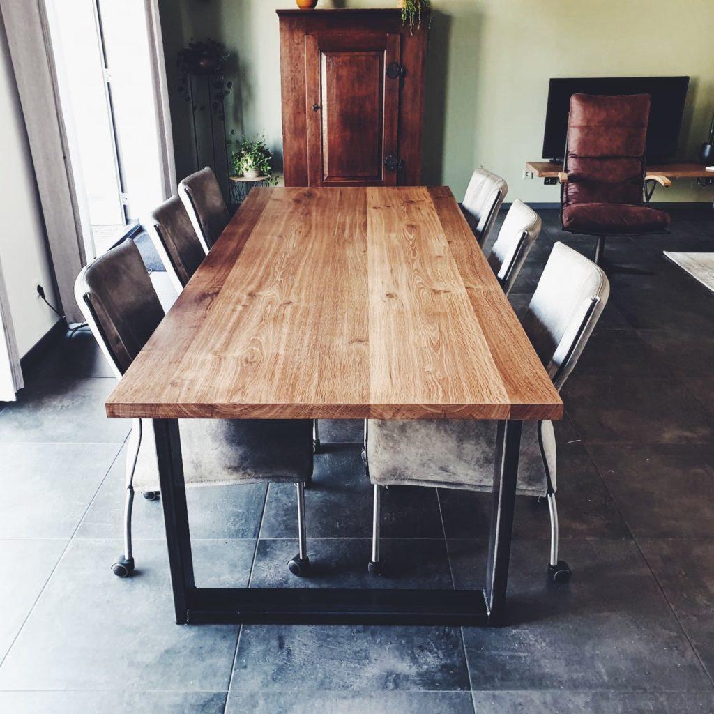 Vintage oak tafel