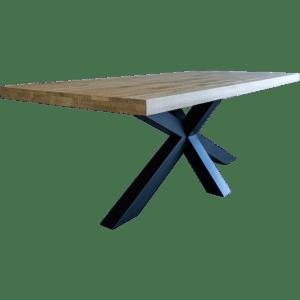 Gelaagde eiken tafel recht