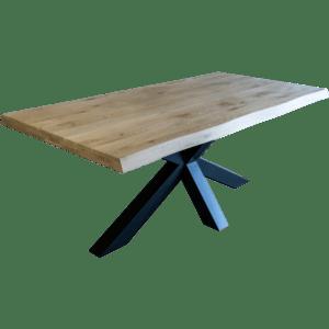 Gelaagd eiken tafel golvend