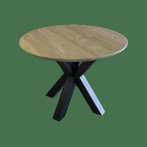 Ronde eiken tafel