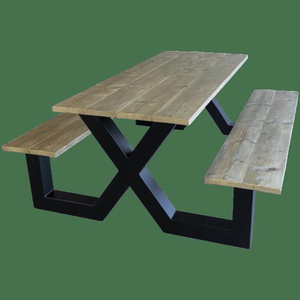 Steigerhouten picknick tafel