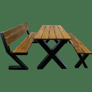 Cumaru tafel set