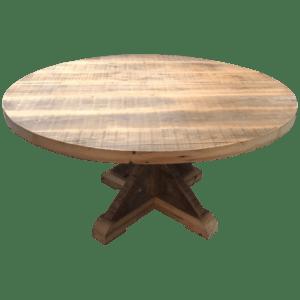 Ronde oude balken tafelblad