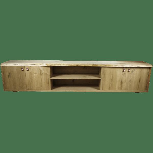 Rustiek eiken tv meubel boomstam productfoto