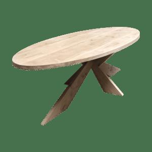 Ovale Rustiek Eiken vergadertafel