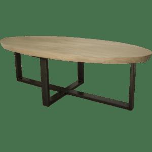 Ovale salontafel met verjongde randen