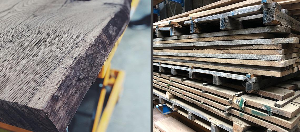 Ruw vintage oak hout