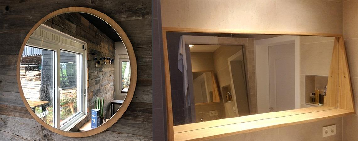 Spiegel op maat rond en rechthoek