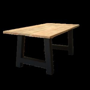 Tuintafel met planken klein