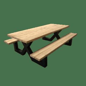 Picknicktafel met balken middel