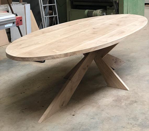 ovale rustiek eiken tafel