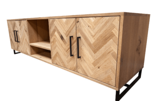 Tv meubel Rustiek New oak visgraat design
