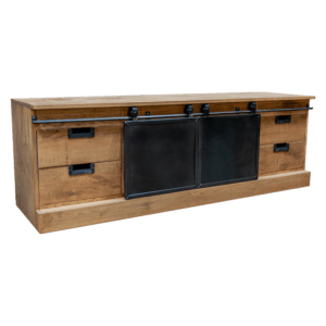 TV-meubel met stalen schuifdeuren